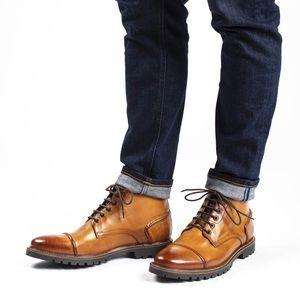 Base London Emerson Cognac Lace up Boot